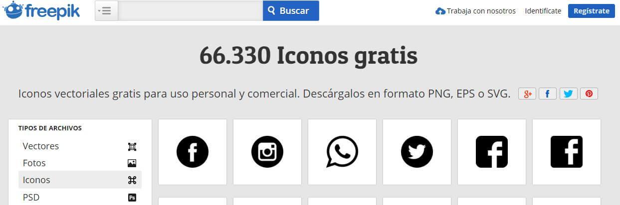 5 PÁGINAS WEB PARA DESCARGAR ICONOS GRATIS.