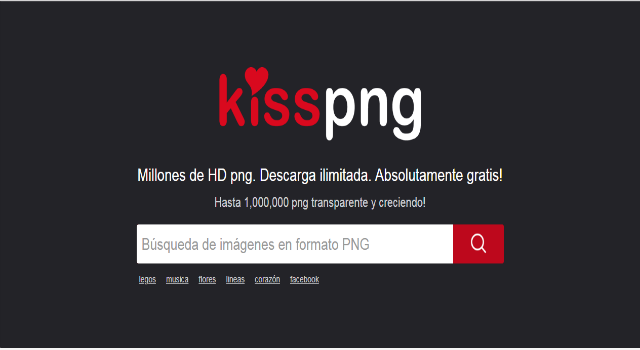 Si buscas imágenes PNG gratis y libres, KissPNG tienes más de 6.