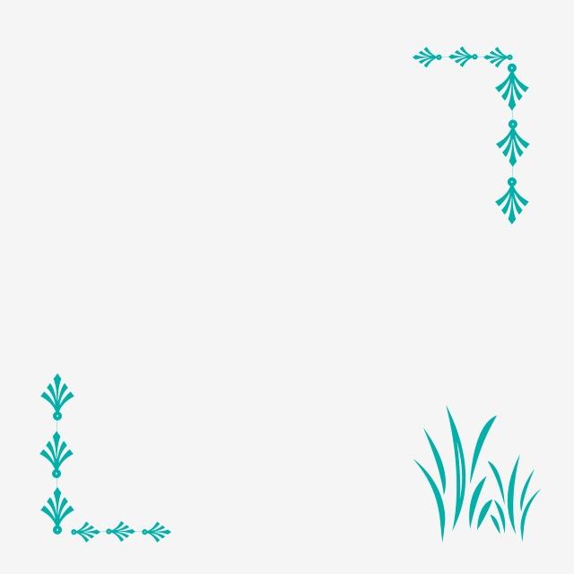 Borde Verde Formato Png Fresco Ambiente Simple Borde Decorativo.