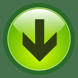 Botón Flecha Verde Download PNG transparente.