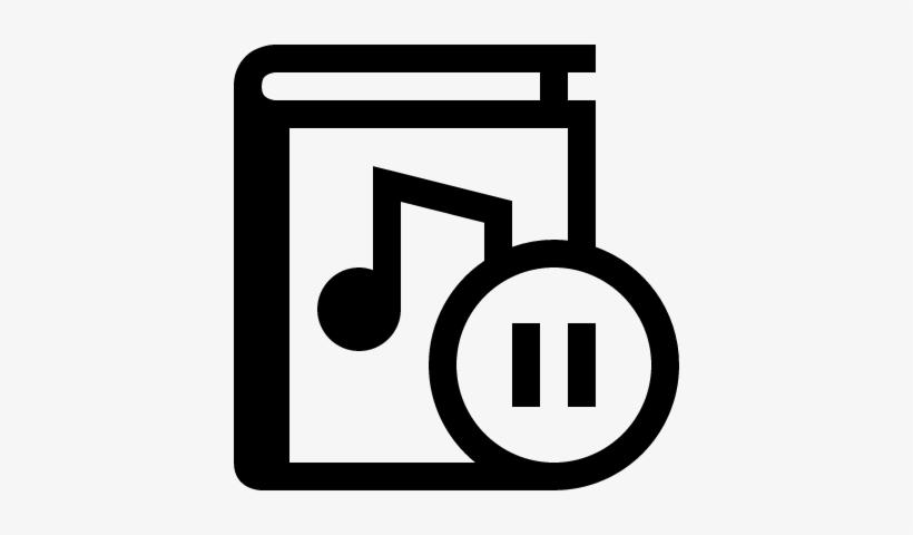 Audio Book Pause Button Vector.