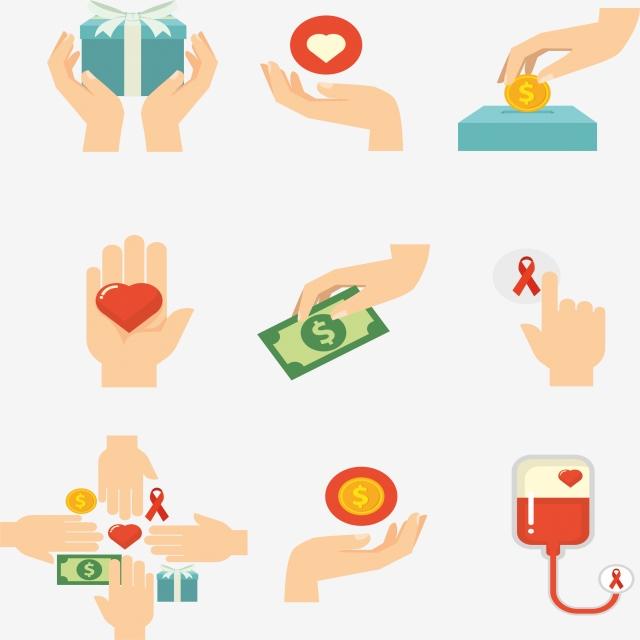 Download Free png Dar Y Donar La Caridad Vector Donar PNG y Vector.