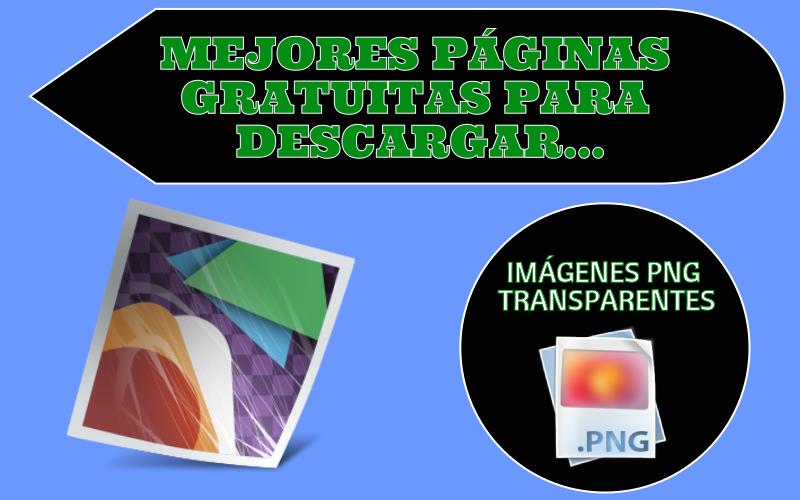 3 páginas para descargar imágenes PNG con fondo transparente.
