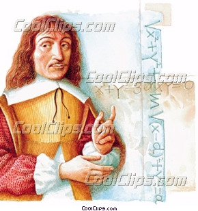 Rene Descartes Royalty Free Fineart Raster Illustration.
