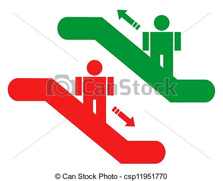 Vectors Illustration of Up and down stairs.