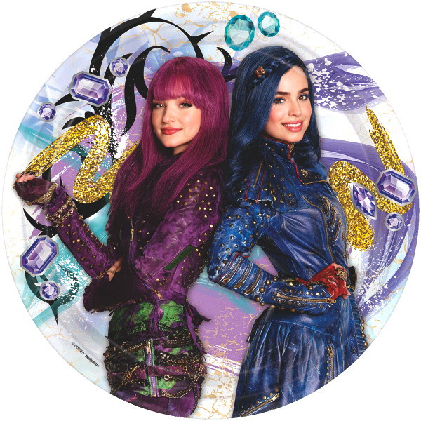 Details about Disney Descendants 2 Party Lunch Plates.