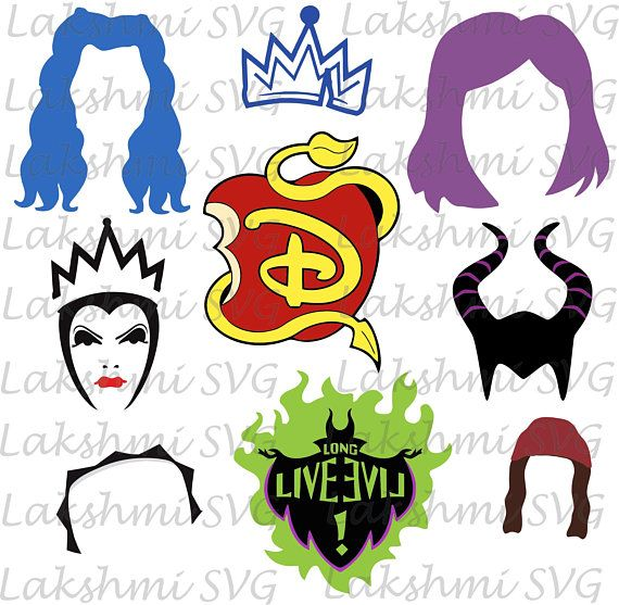 Descendants SVGDescendants SVG Bundle Descendants clipart.