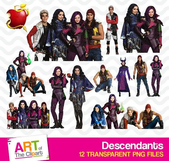 Descendants Clipart, High Resolution Disney Images, Descendants Birthday  Party, Printable Evie, Mal PNG Files, Descendants Art, art.