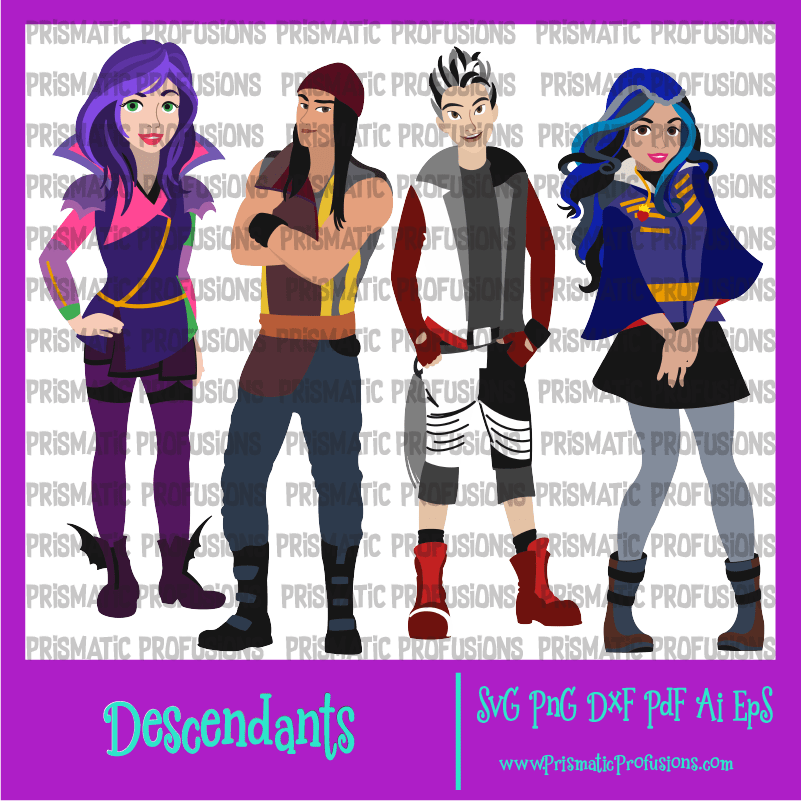 Descendants SVG, Descendants Clipart.