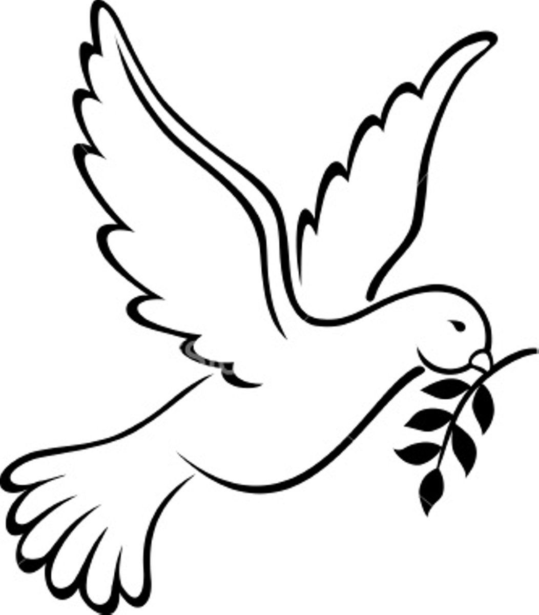 Descending Dove Clip Art.