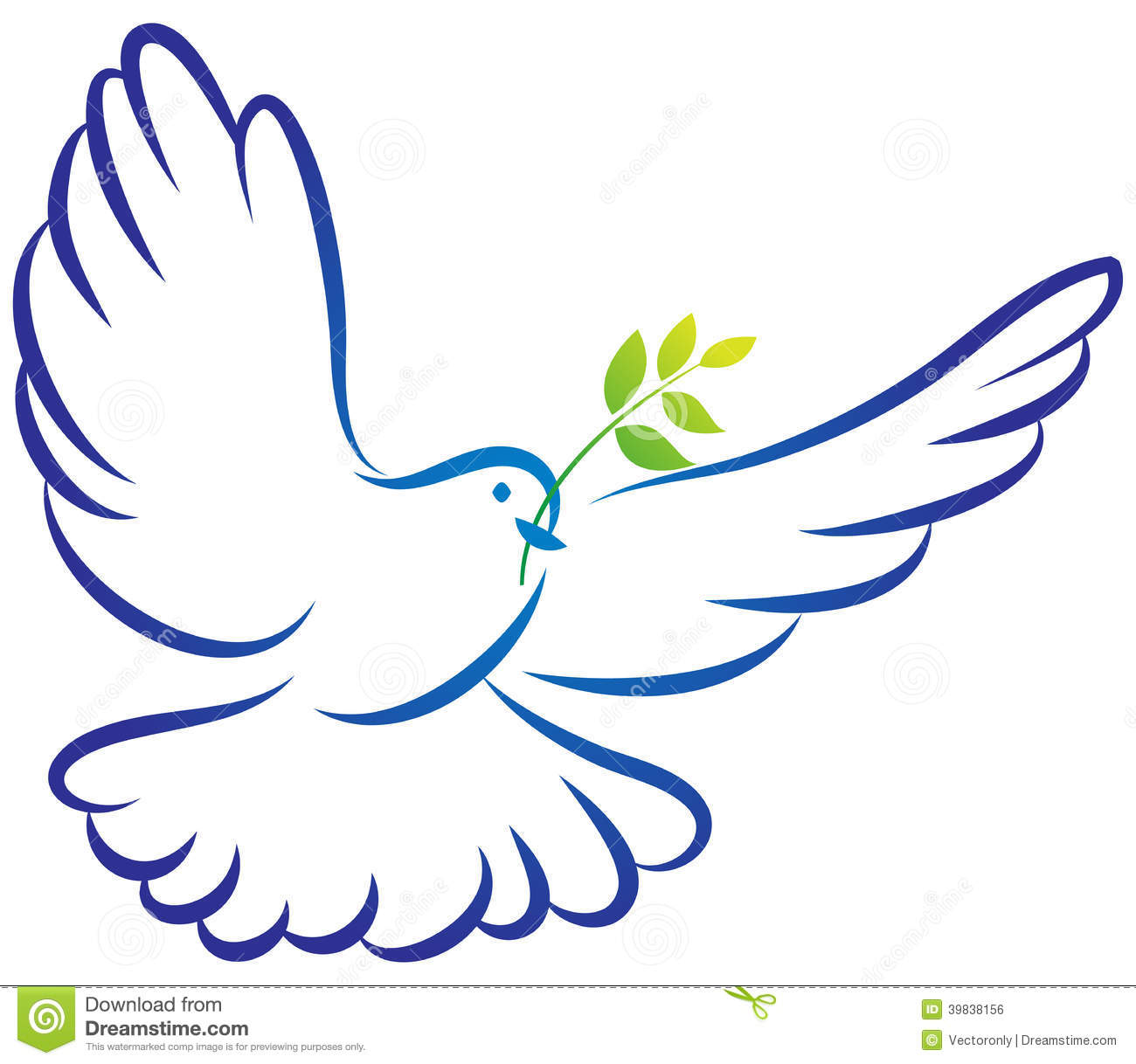 Funeral Dove Clipart.