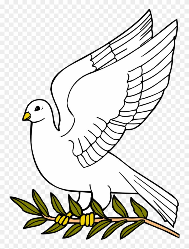 Descending Dove Clipart Dove With Olive Leaf Image Provided.