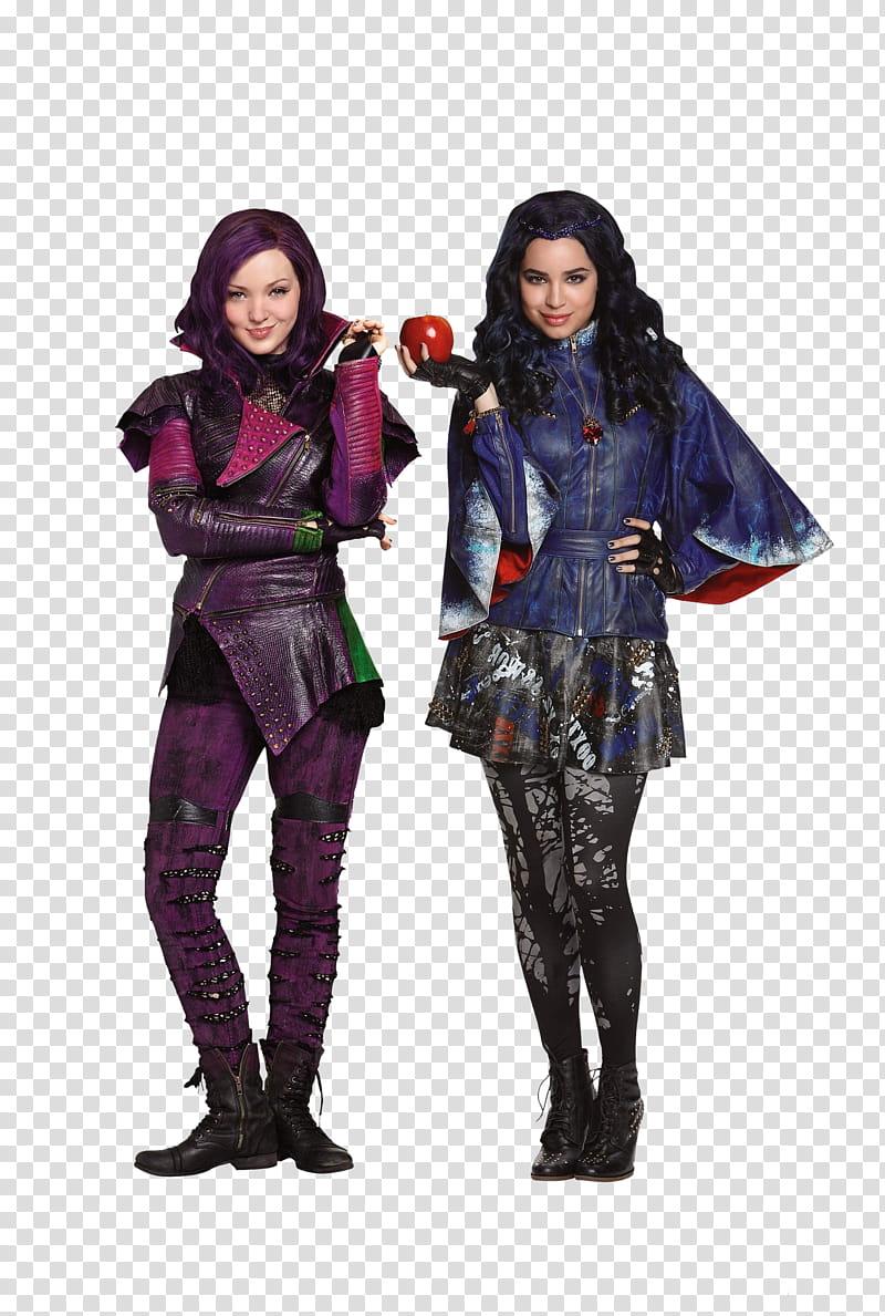 Descendants, two women wearing costumes transparent.