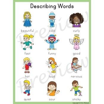 Writing Center Word List ~ Describing Words {Adjectives}.