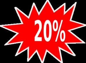 20% Off Descuento Clip Art at Clker.com.