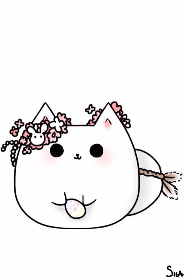 Este gatito tan cute te quiere desear una linda Pascua.