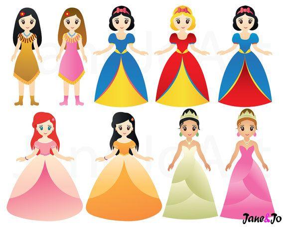 Princess clipart,Princess clip art,Fairytale princess.