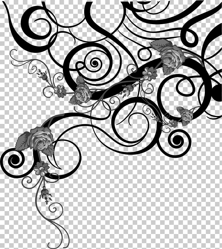 Black and white , desen PNG clipart.