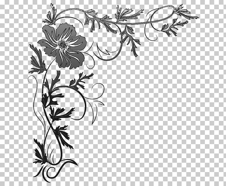 Floral design Drawing Visual arts Cut flowers, desen PNG.