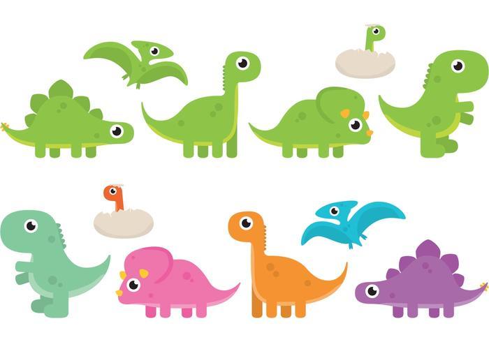 Cartoon Dinosaur Vectors.