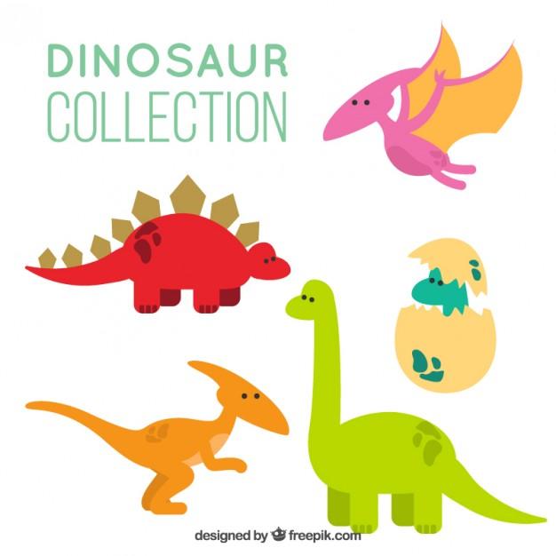 Desenhos animados dinossauros pacote.