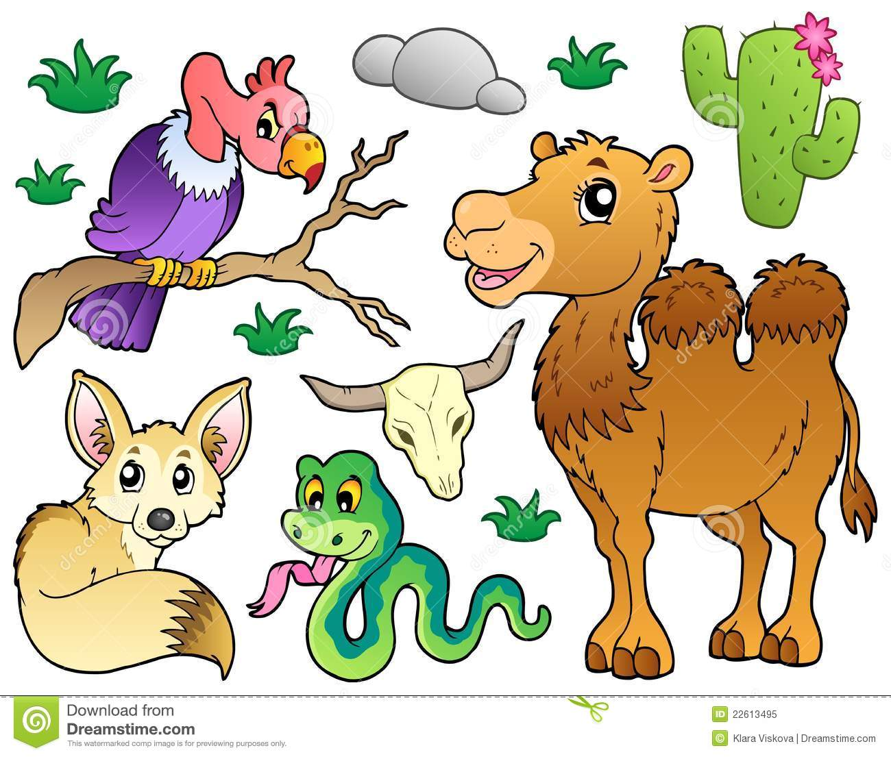 Desert animal clip art.