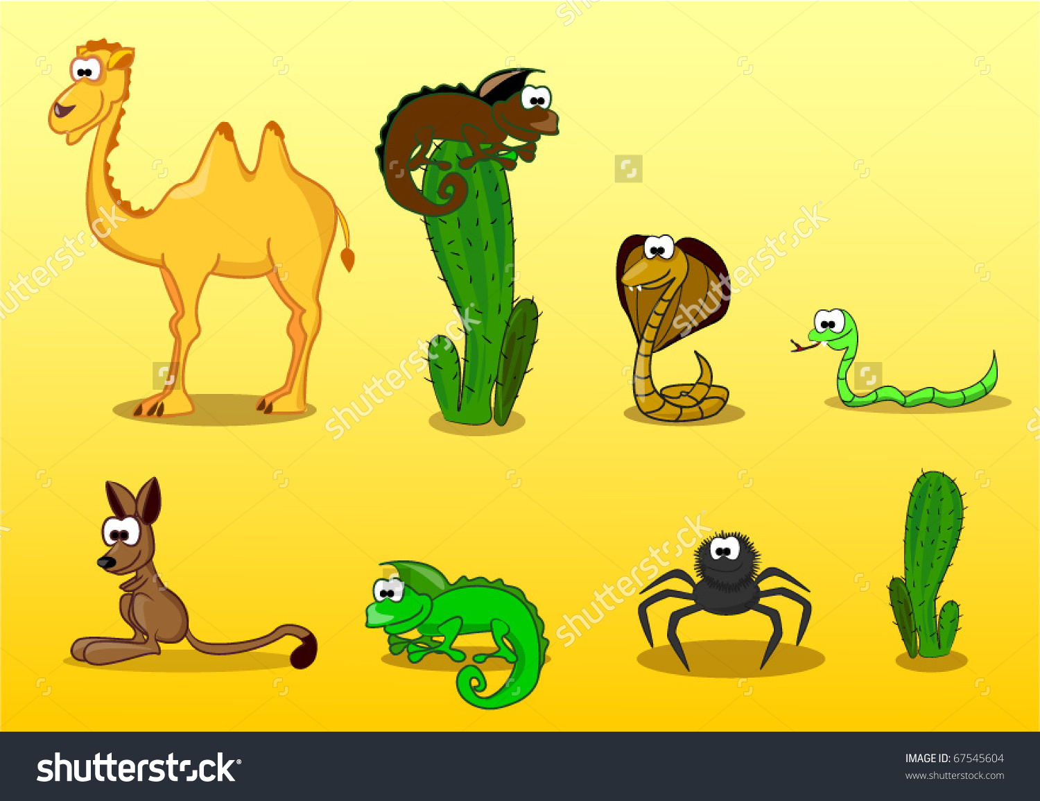 Desert animal clipart.