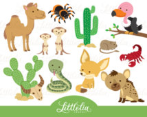 Clip Art Desert Animals.