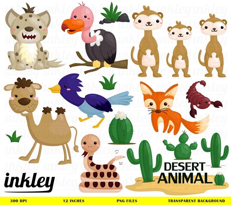 Desert Animal Clipart, Desert Animal Clip Art, Desert Animal Png, Animals  Clipart,Hyena Clipart, Camel Clipart, Fox Clipart, Vulture Clipart.