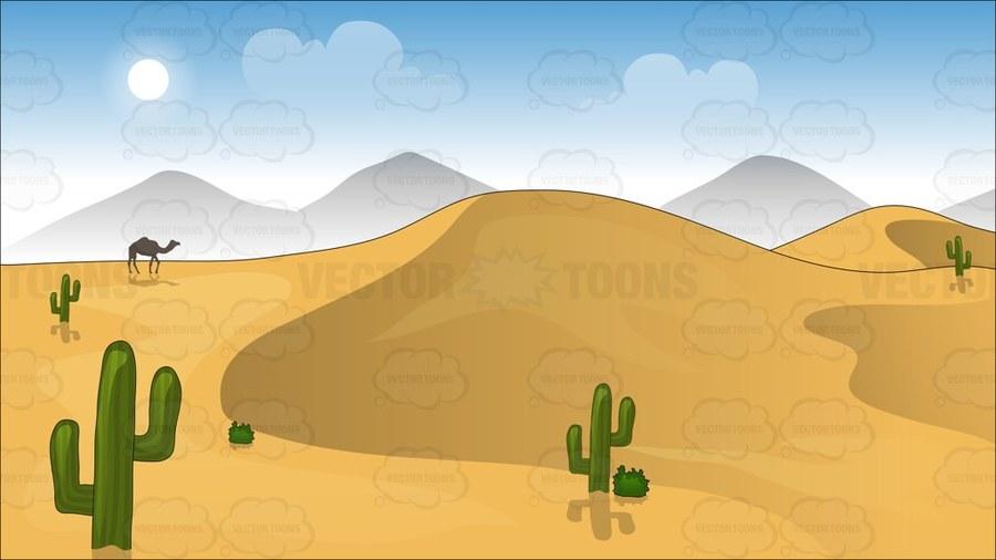 Download desert background cartoon clipart Desert Dune Clip art.