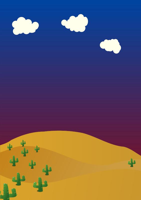 Free Clipart: Desert background.