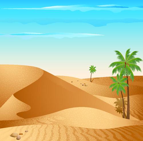 Background desert design elements vector Free vector in Encapsulated.