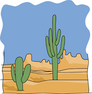 Boy with cactus clipart.