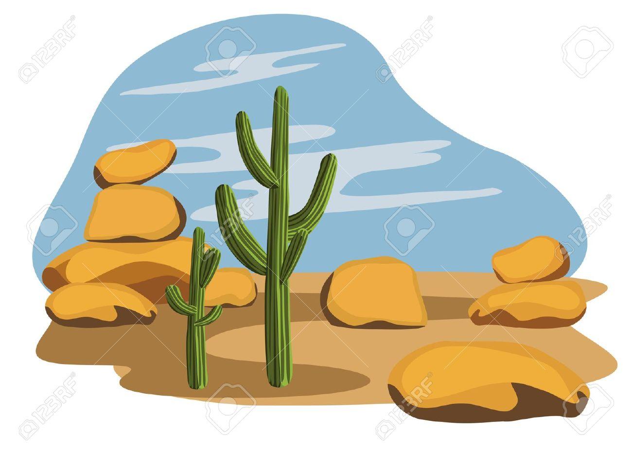 Desert clipart cactus.