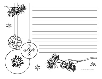Christmas Black And White Border Clipart.