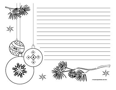 Christmas Black And White Border Clipart.
