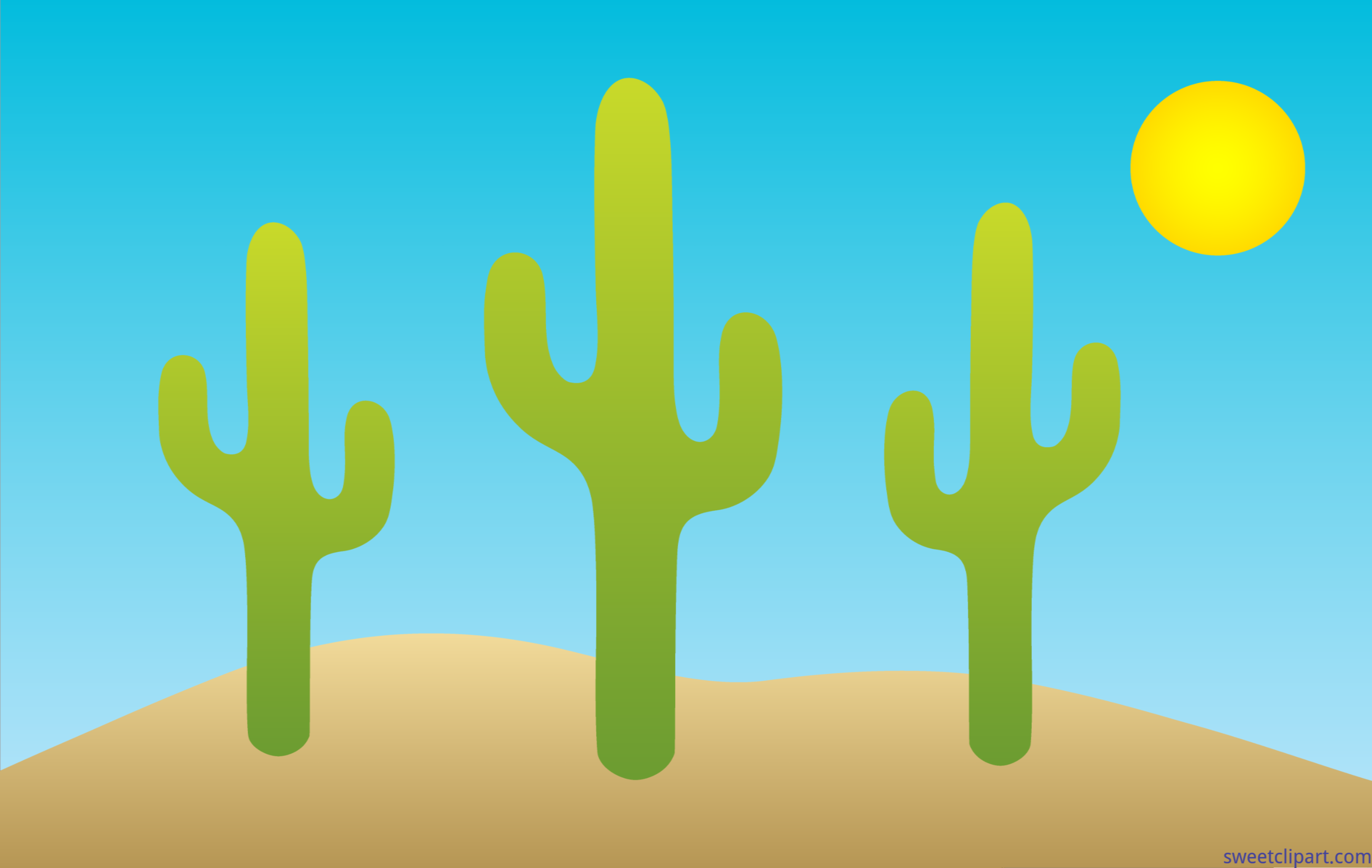 Cacti Desert Clip Art.