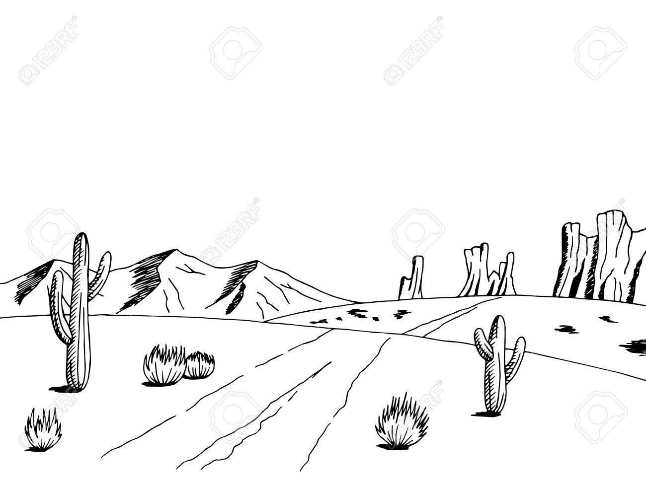 Desert clipart black and white 3 » Clipart Station.