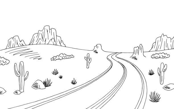 Desert clipart black and white 4 » Clipart Station.
