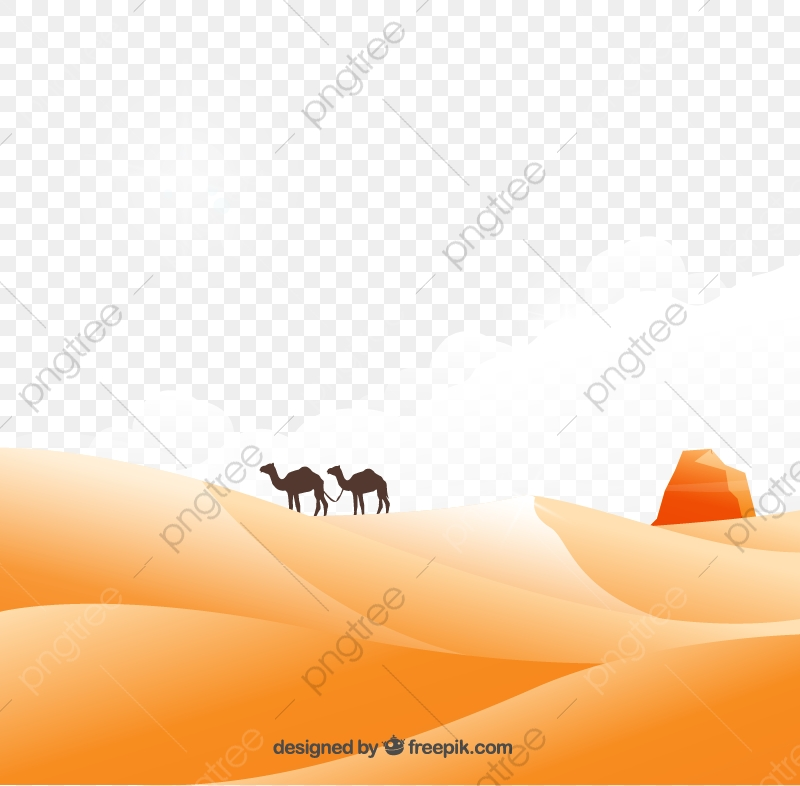 Desert, Desert Clipart, Camel, Sand PNG and Vector with Transparent.
