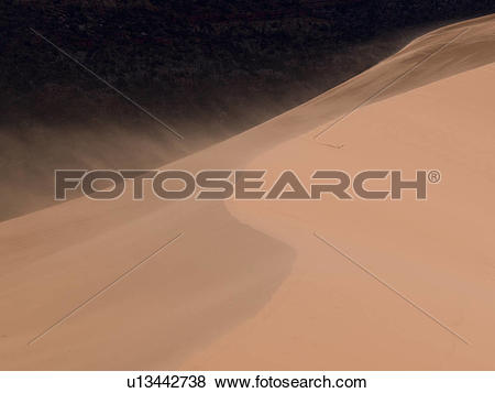Pictures of Sand dunes in a desert, Coral Pink Sand Dunes State.