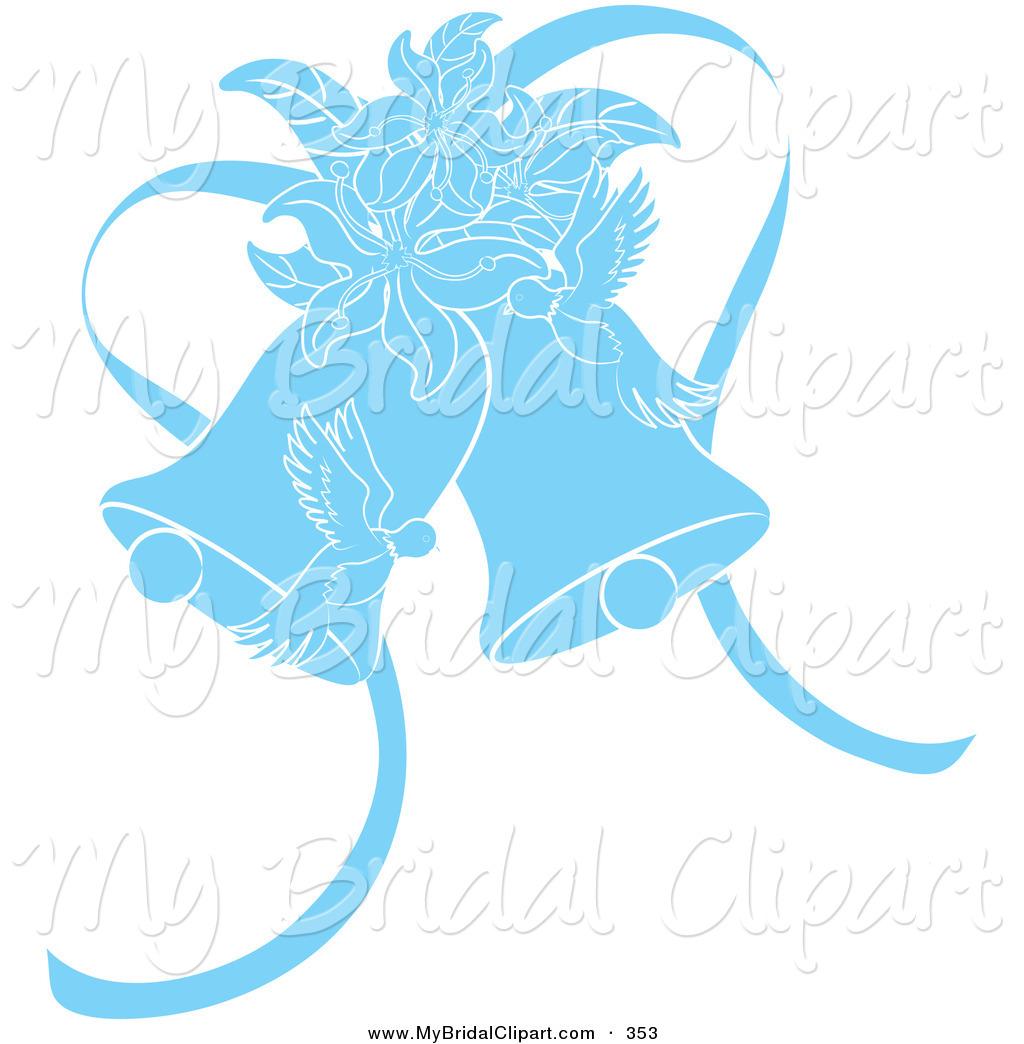 Blue Wedding Clipart.