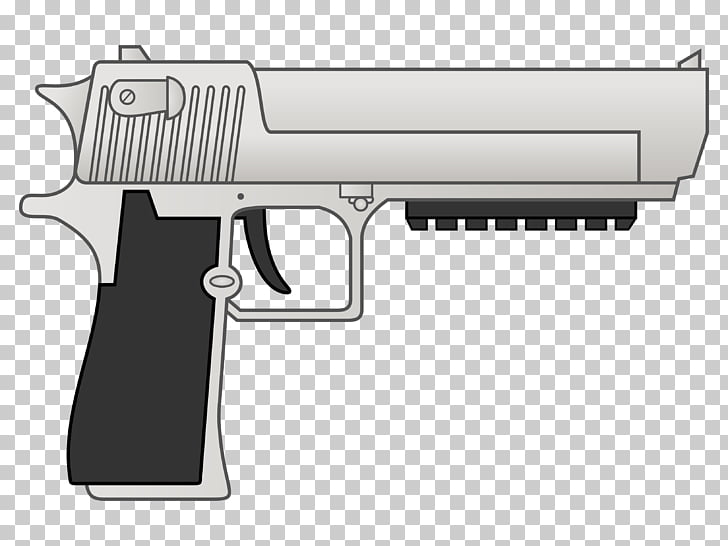 Trigger Firearm Revolver IMI Desert Eagle Cartoon, Desert.