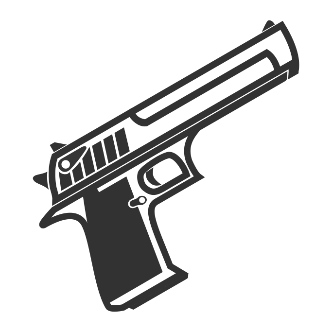 Surviv.io IMI Desert Eagle Pistol Firearm Weapon.