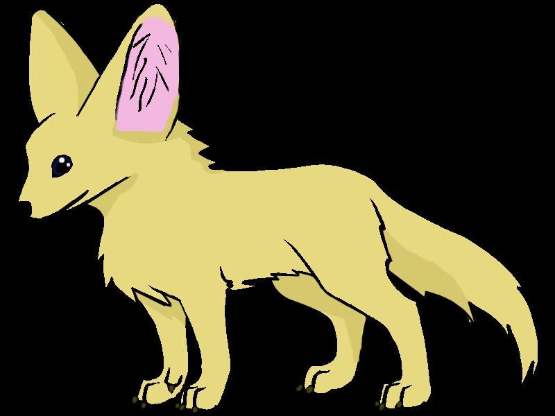 Fennec fox clipart.