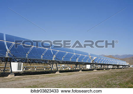 "Stock Photo of ""Cylindrical parabolic collectors, generating."