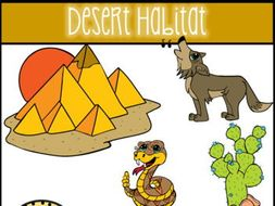 Desert Habitat Clip Art.
