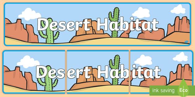 Desert Habitat Banner.