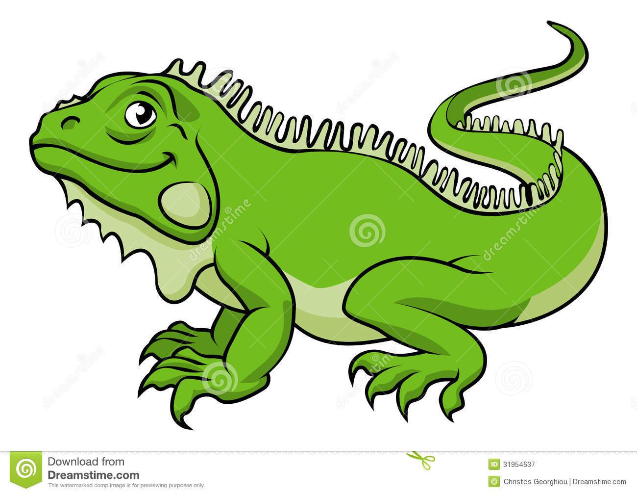Iguana Clipart Cartoon.