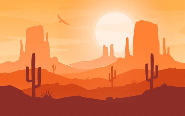 Best Desert Landscape Illustrations, Royalty.